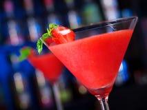Cocktails Collection - Strawberry Daiquiri. Ingredients for Strawberry Daiquiri: 1/2 oz strawberry schnapps 1 oz light rum 1 oz lime juice 1 tsp powdered sugar 1 stock photo