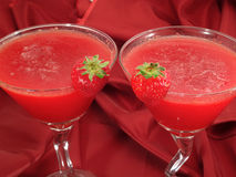 Cocktails Collection - Strawberry Daiquiris Royalty Free Stock Image