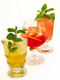 Cocktails Collection - threesome: Canadian, Negroni, Mai Tai Stock Photography