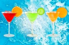 Cocktails colorés Images libres de droits
