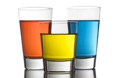Cocktails colorés Photographie stock