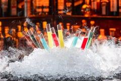 Cocktails colorés Photos stock