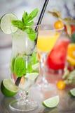 Cocktails colorés d'été Images libres de droits