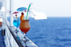 Cocktails on a cruise ship Stock Photos