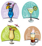 Cocktails d'alcool illustration stock