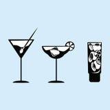 Cocktails d'images de vecteur images stock