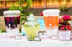 Cocktails de fête de naissance Photographie stock