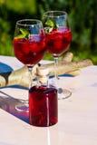 Cocktails de fraise Photographie stock libre de droits