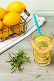 Cocktails de l'eau de Detox Photo libre de droits
