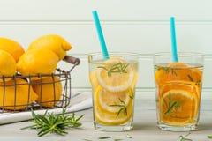 Cocktails de l'eau de Detox Photographie stock libre de droits