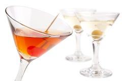 Cocktails de Martini Photos libres de droits