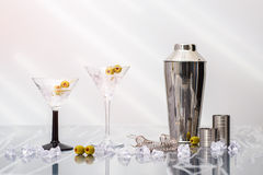 Cocktails de Martini Image stock