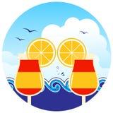 Cocktails de plage Photographie stock libre de droits