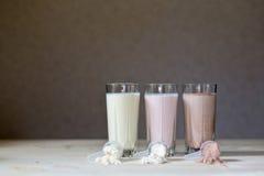 Cocktails de protéine Image stock