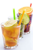 Cocktails with different citrus fruits Royalty Free Stock Photography