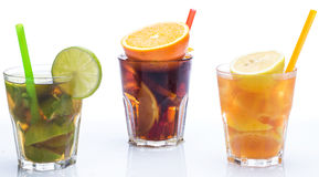 Cocktails with different citrus fruits Royalty Free Stock Photo