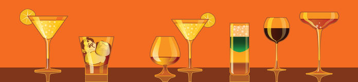 Cocktails, drinks. Vector illustration (eps8) cocktails, drinks Stock Image