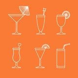 Cocktails and drinks Stock Photography