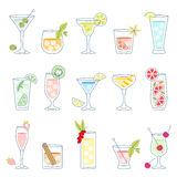Cocktails and drinks with fruit Stock Photos