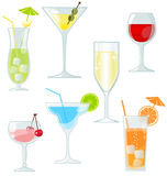 Cocktails and drinks. Set of cocktails and drinks Royalty Free Stock Images