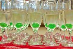 Cocktails in einem Glas Stockfotografie