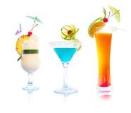 Cocktails - ensemble tropical Photographie stock libre de droits