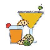 Cocktails et boissons illustration libre de droits