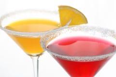 Cocktails et citron multicolores Photo stock