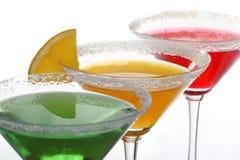 Cocktails et citron multicolores Photographie stock