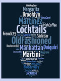 Cocktails everyone should know. Word cloud concept Stock Photography