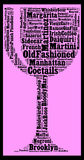 Cocktails everyone should know. Word cloud concept Stock Photo