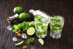 Cocktails faits de mojito Image libre de droits