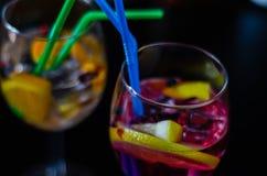 Cocktails frais et régénérateurs basés sur le genièvre, une herba distinctive photo libre de droits