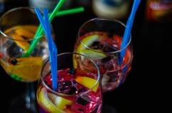 Cocktails frais et régénérateurs basés sur le genièvre, une herba distinctive photos stock