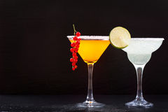 Cocktails with fresh fruit Stock Photography