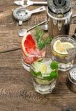 Cocktails fruit decoration. Bar drinks Food beverages Royalty Free Stock Images