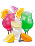 Cocktails with fruits Royalty Free Stock Image