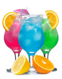 Cocktails with fruits stock image
