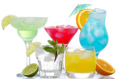 Cocktails with fruits Royalty Free Stock Photo