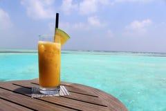 Cocktails gegen das Meer stockbilder