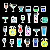 Cocktails glasses vector illustration stock illustration