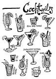 Cocktails  Hand Drawn  Stock Image