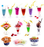 Cocktails and ice cream jigsaw puzzle Stock Images
