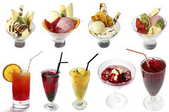 Cocktails and ice-creams mix Royalty Free Stock Photos