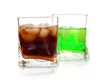 Cocktails with ice cubes Stock Image