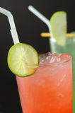 Cocktails with ice and lime Royalty Free Stock Photos