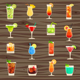 Cocktails  icon set Stock Photos