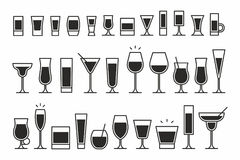 Cocktails Icons Stock Image
