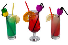 Cocktails - isolated Royalty Free Stock Photo