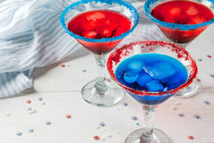 Cocktails for July, 4 Royalty Free Stock Images